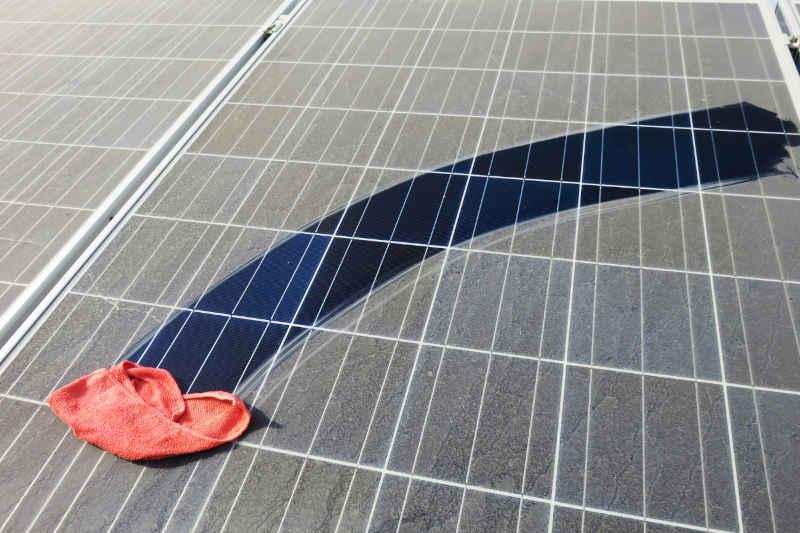 clean versus dirty solar panel